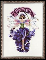 """CMPLTE XSTITCH MATERIALS """"PANSY"""" NC112"""" Pixie Couture Collectio by Nora Corbett"""