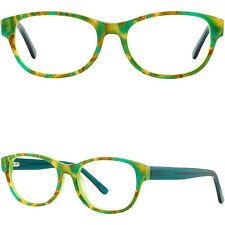Herren Damen Brille Acetat Fassung Eckig Federbügel Brillengestell Grün Gestell