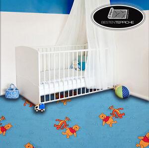 KINDERTEPPICH Teppich DISNEY WINNIE THE POOH, blau, Spielteppich, alle Größen