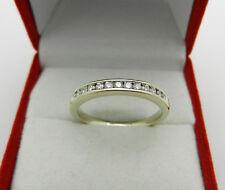 Anniversary 14k White Gold Natural Diamonds Wedding Band Ring Size 7.75