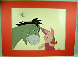 Walt Disney Orig. Animation Movie Film Cell - Eeyore & Piglet from Winnie Pooh