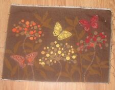 Butterfly & Flowers Tapestry Pillow Top Fabric Piece