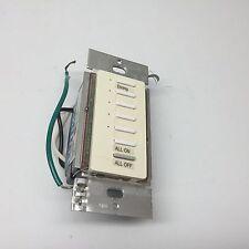 Lutron RadioRA 5 Button Raise Lower Master Controller RAMC-5W Almond