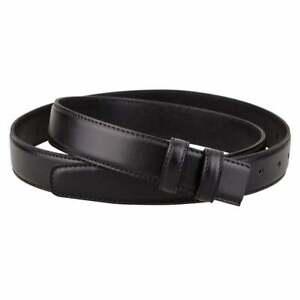Black Leather Belt Strap Replacement For Ferragamo Buckles Mens 30mm Size 36