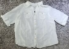 The Favorite Shirt by Avenue ½ Sleeve White Cotton Button Down 22/24