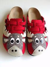 new BIRKI's by BIRKENSTOCK Mules Clogs CAMDEN Elk Felt Red EU38 US7 UK5 Narrow
