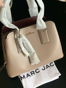MARC JACOBS The Editor Large Leather Tote Beige Gold Hardware NEW