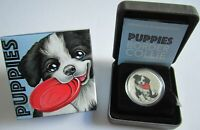 Tuvalu 50 Cents 2018 Puppies Border Collie 1/2 Oz Silber
