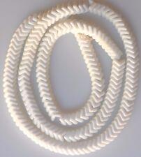 """27"""" Strand of White Czech Glass Snake Beads"""