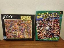 """Lot of 2 Puzzles - Fx Schmid """"Picky Picky"""" and Buffalo """"Golf Madness"""""""