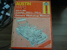HAYNES OWNERS WORKSHOP MANUAL 052 AUSTIN MAXI 1969 - 1981