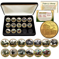 2018 TRIPLE CROWN WINNERS 24KT Gold KENTUCKY State Quarters 13-Coin Set with BOX