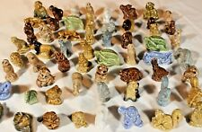 Large Lot of 57 Vintage Wade Red Rose Porcelain Mini Figurines/ Whimsies