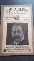 Revista Le Guía de La Concierto Y Las Sketches Letra 1931 N º 1-2 P.Monteux