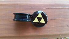 Zelda plugs PAIR 2 Logo triangle game acrylic gauge piercing screw fit ear