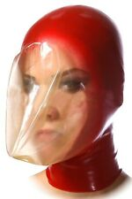 Breath play latex mask, Seamless breath control hood, Suffocating gummi rubber