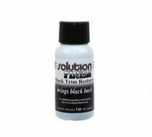Solution Finish Black Plastic and Vinyl Trim Restorer 1 oz Car Truck SUV