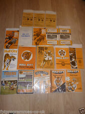 Hull City Home Teams F-K Football Reserve Fixture Programmes