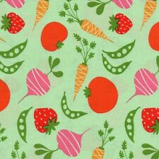 GARDEN VEGETABLES  5 FOR 4 DAVID WALKER  NOVELTY FABRIC   FAT QUARTER £ 2.49