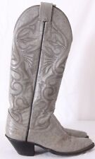 Olathe 6173L Tall Vtg Pointed USA Crackle Cowboy Western Boots Women's US 5.5B