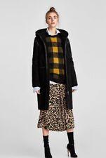 8c974338a5623 Cappotto ZARA tg L reversibile nero Nuovo con cappuccio