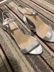 New Look Silver Sandals Size 6