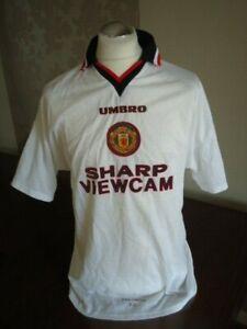 MANCHESTER UNITED 1996 Umbro PLAYER MATCHWORN Away Shirt No 3 Rare XL Man Utd