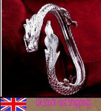 Reino Unido * Ajustable Dragón de Plata Esterlina 925 Brazalete Pulsera hombres Señora Regalo + Giftbag
