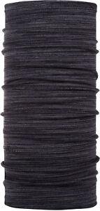 Buff Mid Merino Wool Castlerock Grey Multi Stripes Neckwear