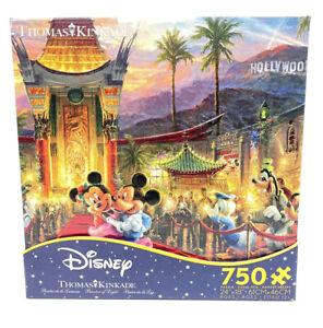 Disney Thomas Kinkade Mickey & Minnie Mouse Hollywood 750pc Jigsaw Puzzle NEW
