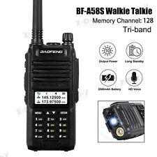 Baofeng A58S Portable Walkie Talkie Tri-Band High Power Long Range Two-Way Radio