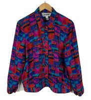Lyndal Sydney Womens Blouse Top Size 16 Retro 70s/80s Style Long Sleeve Vintage