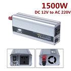 1500W Watt Car Power Inverter DC 12V to 220v AC Adapter Converter Laptop Charger