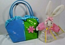 Girls  pat'n leather  vinyl Purse and   Bunny Fillable Both new Back to School