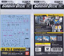 [Bandai] Genuine RG 1/144 RX-78-2 Gundam waterslide decal GD 84