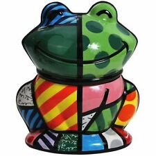Romero Britto Cookie Jar / Canister ** FROG ** New with Tag