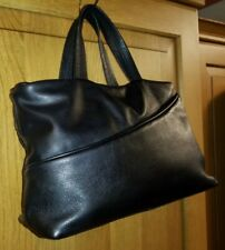 NEXT Black Genuine Leather Grab Bag Handbag