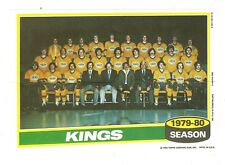 1980-81 Topps Hockey Team Photo Mini Poster Pinup Los Angeles Kings Mint