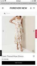 New Forever New Cami Tiered Maxi Dress Size 8 $139.99