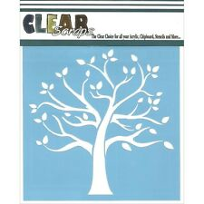 "Clear Scraps Stencils 6""X6"" - Family Tree"