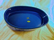 Oval Suiban Bowl - Vintage Ikebana Ceramic Vase, Blue, Black, Emerald, Mustard