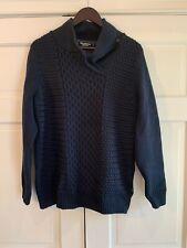 Holebrook Sweden Navy Lined Windproof Sweater Jacket Woven Cotten Men's Sz XL