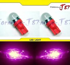LED 5050 Light Pink 30000K 194 Two Bulbs License Plate Replace OE Show SMD Japan