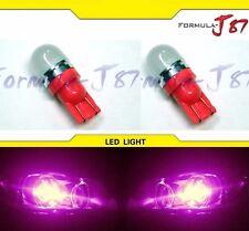 LED 5050 Light 194 Pink 30000K Two Bulbs Side Marker Map Step Door Parking Trunk