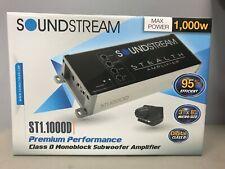 Soundstream ST1.1000D 1000 Watt Stealth Class-D Monoblock 2 Ohm Stable Amp Low $