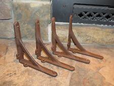 """6 MEDIUM ESPRESSO BROWN HEAVY DUTY 7X7/"""" SHELF BRACKETS CAST IRON rustic SCROLL"""