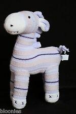 Pottery Barn Kids Blue Knit Sweater Knitted Giraffe Plush Toy Doll
