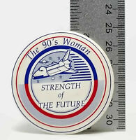 Vintage The 90's Woman Strength Of The Future Metal Pin