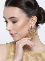 Indian Earrings Gold Plated Bollywood Jhumka Jhumki New Drop Dangler Jewelry