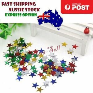 1000x Confetti Stars 10mm Gold Green Blue Red Silver Wedding Party Table Decorat